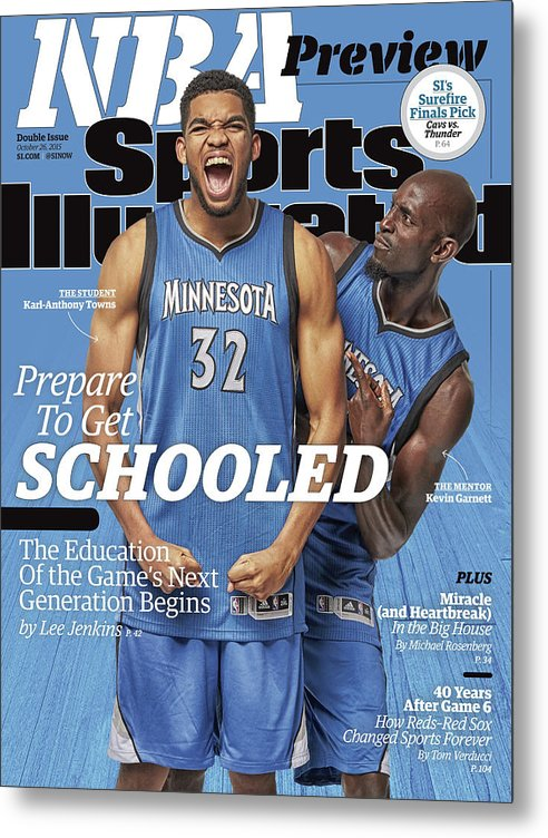 Magazine Cover Metal Print featuring the photograph Prepare To Get Schooled, The Education Of The Games Next Sports Illustrated Cover by Sports Illustrated
