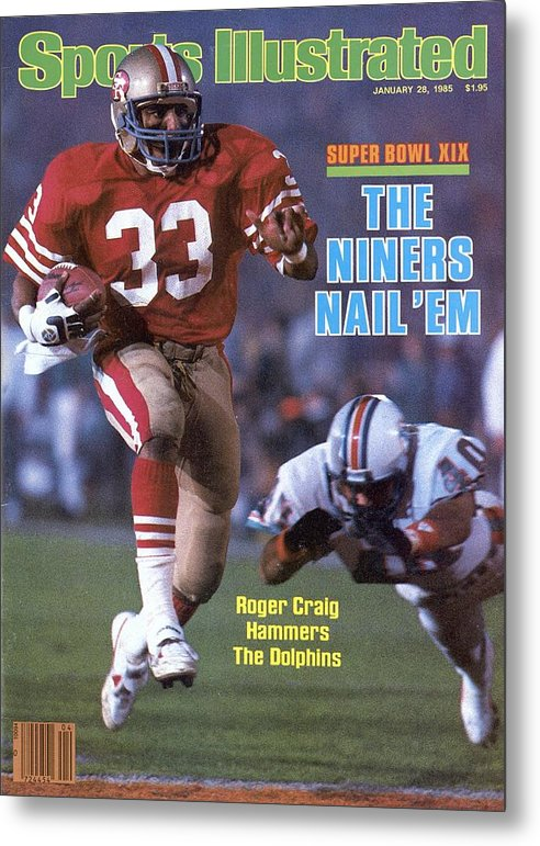 1980-1989 Metal Print featuring the photograph San Francisco 49ers Roger Craig, Super Bowl Xix Sports Illustrated Cover by Sports Illustrated