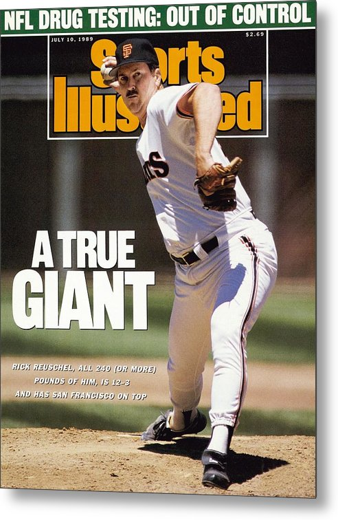 Candlestick Park Metal Print featuring the photograph San Francisco Giants Rick Reuschel... Sports Illustrated Cover by Sports Illustrated