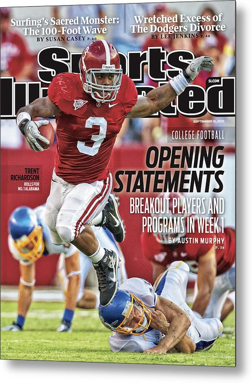 Sports Illustrated Metal Print featuring the photograph San Jose State V Alabama Sports Illustrated Cover by Sports Illustrated
