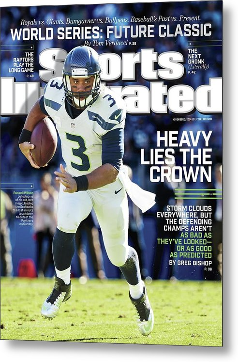Magazine Cover Metal Print featuring the photograph Seattle Seahawks Heavy Lies The Crown Sports Illustrated Cover by Sports Illustrated