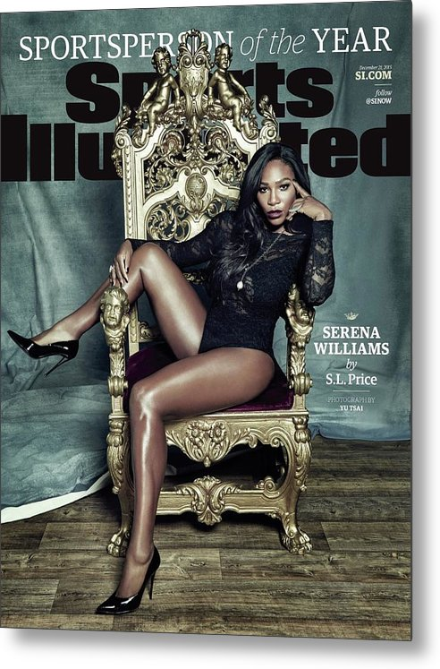 Magazine Cover Metal Print featuring the photograph Serena Williams, 2015 Sportsperson Of The Year Sports Illustrated Cover by Sports Illustrated