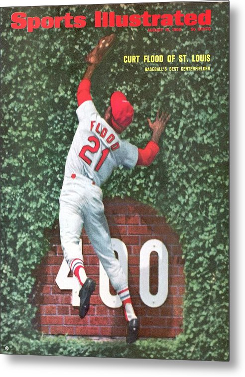 St. Louis Cardinals Metal Print featuring the photograph St. Louis Cardinals Curt Flood Sports Illustrated Cover by Sports Illustrated