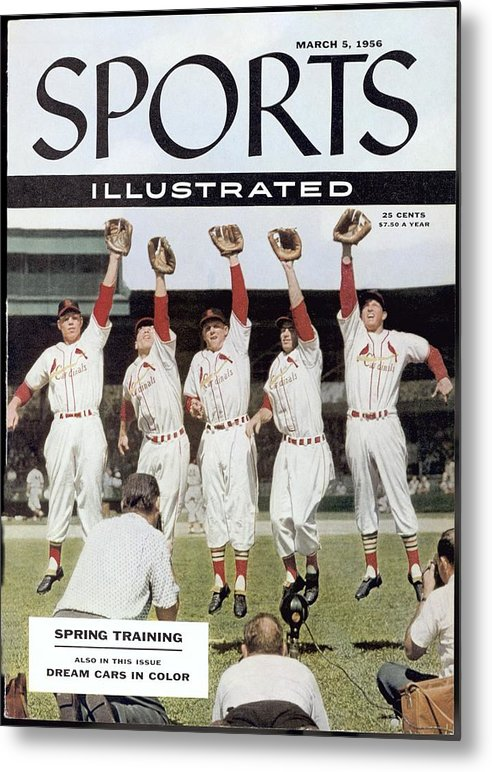 St. Louis Cardinals Metal Print featuring the photograph St. Louis Cardinals Sports Illustrated Cover by Sports Illustrated