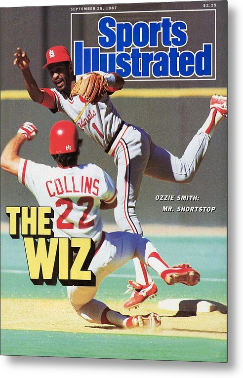 St. Louis Cardinals Metal Print featuring the photograph St Louis Cardinals Ozzie Smith... Sports Illustrated Cover by Sports Illustrated