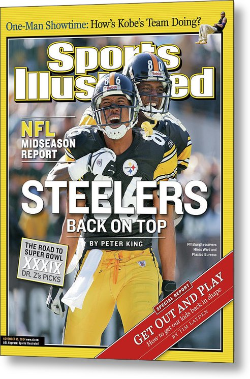 Magazine Cover Metal Print featuring the photograph Steelers Back On Top Nfl Midseason Report Sports Illustrated Cover by Sports Illustrated