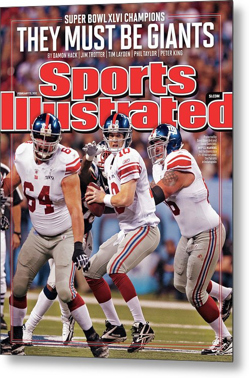 Magazine Cover Metal Print featuring the photograph Super Bowl Xlvi... Sports Illustrated Cover by Sports Illustrated