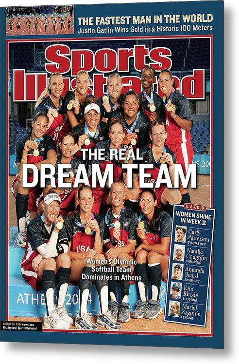 Magazine Cover Metal Print featuring the photograph Team Usa Softball, 2004 Summer Olympics Sports Illustrated Cover by Sports Illustrated