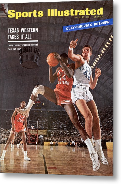 Magazine Cover Metal Print featuring the photograph Texas Western University Takes It All Sports Illustrated Cover by Sports Illustrated