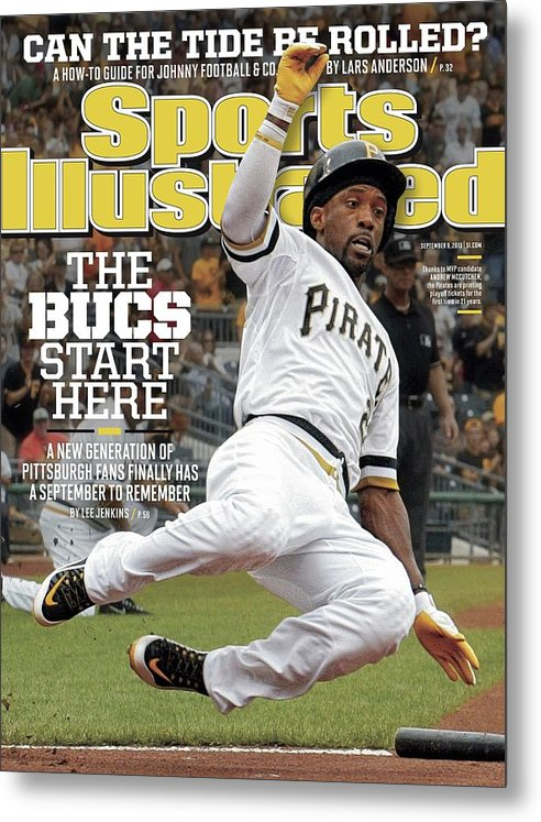 Magazine Cover Metal Print featuring the photograph The Bucs Start Here A New Generation Of Pittsburgh Fans Sports Illustrated Cover by Sports Illustrated