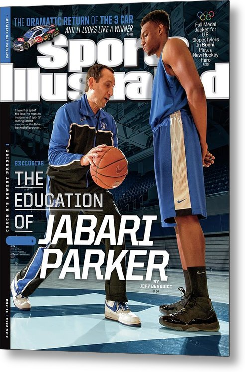 Magazine Cover Metal Print featuring the photograph The Education Of Jabari Parker Sports Illustrated Cover by Sports Illustrated