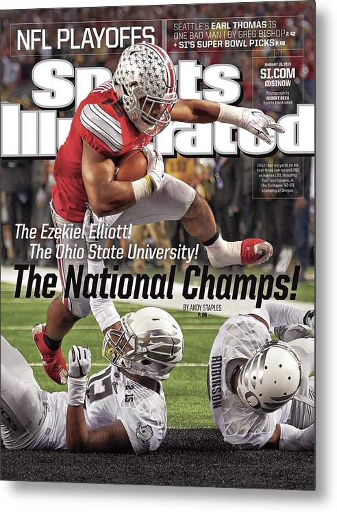 Magazine Cover Metal Print featuring the photograph The Ezekiel Elliott The Ohio State University The National Sports Illustrated Cover by Sports Illustrated
