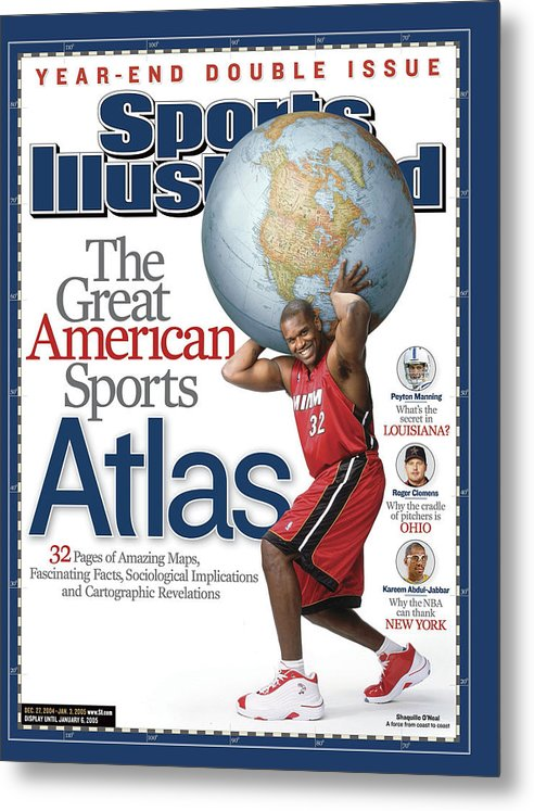 Magazine Cover Metal Print featuring the photograph The Great American Sports Atlas Sports Illustrated Cover by Sports Illustrated