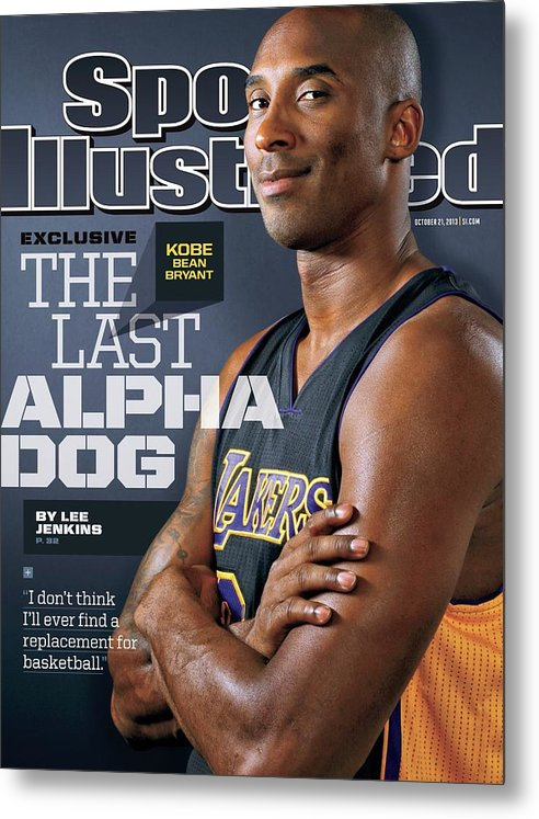 Magazine Cover Metal Print featuring the photograph The Last Alpha Dog Sports Illustrated Cover by Sports Illustrated