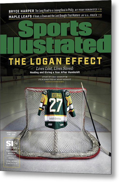 Magazine Cover Metal Print featuring the photograph The Logan Effect. Lives Lost, Lives Saved Healing And Sports Illustrated Cover by Sports Illustrated