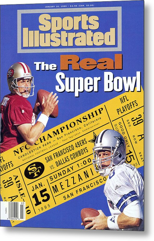 California Metal Print featuring the photograph The Real Super Bowl, 1995 Nfc Championship Preview Sports Illustrated Cover by Sports Illustrated