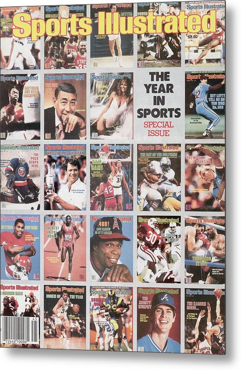 1980-1989 Metal Print featuring the photograph The Year In Sports Issue... Sports Illustrated Cover by Sports Illustrated