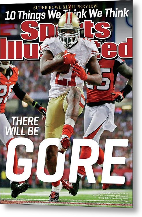 Atlanta Metal Print featuring the photograph There Will Be Gore Super Bowl Xlvii Preview Issue Sports Illustrated Cover by Sports Illustrated