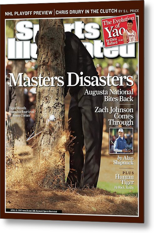 Magazine Cover Metal Print featuring the photograph Tiger Woods, 2007 Masters Sports Illustrated Cover by Sports Illustrated