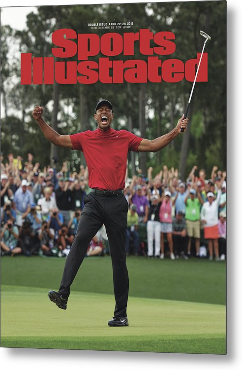 Magazine Cover Metal Print featuring the photograph Tiger Woods, 2019 Masters Tournament Champion Sports Illustrated Cover by Sports Illustrated