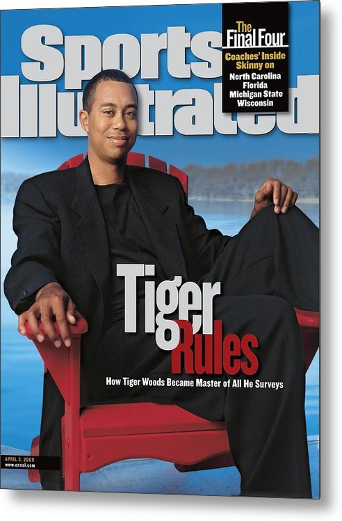Magazine Cover Metal Print featuring the photograph Tiger Woods, Golf Sports Illustrated Cover by Sports Illustrated