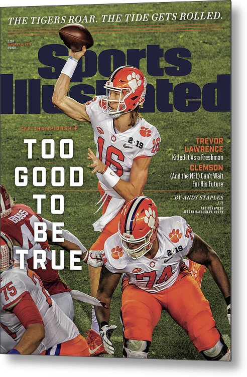 Magazine Cover Metal Print featuring the photograph Too Good To Be True Trevor Lawrence Killed It As A Sports Illustrated Cover by Sports Illustrated
