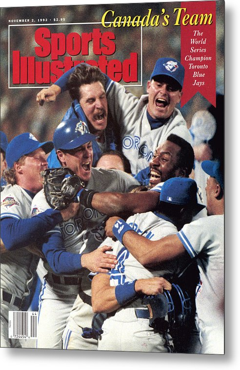 Atlanta Metal Print featuring the photograph Toronto Blue Jays Joe Carter, 1992 World Series Sports Illustrated Cover by Sports Illustrated