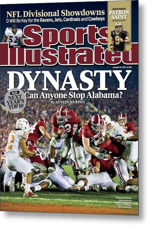 Rose Bowl Stadium Metal Print featuring the photograph University Of Alabama Mark Ingram, 2010 Citi Bcs National Sports Illustrated Cover by Sports Illustrated