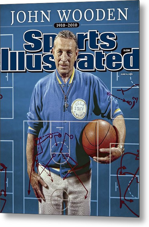Magazine Cover Metal Print featuring the photograph University Of California Los Angeles Coach John Wooden Sports Illustrated Cover by Sports Illustrated