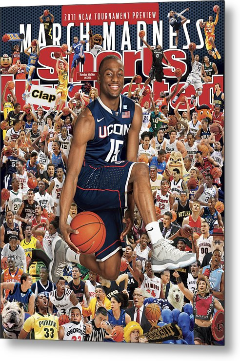 Kemba Walker Metal Print featuring the photograph University Of Connecticut Kemba Walker, 2011 March Madness Sports Illustrated Cover by Sports Illustrated