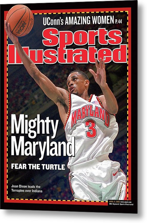 Atlanta Metal Print featuring the photograph University Of Maryland Juan Dixon, 2002 Ncaa National Sports Illustrated Cover by Sports Illustrated