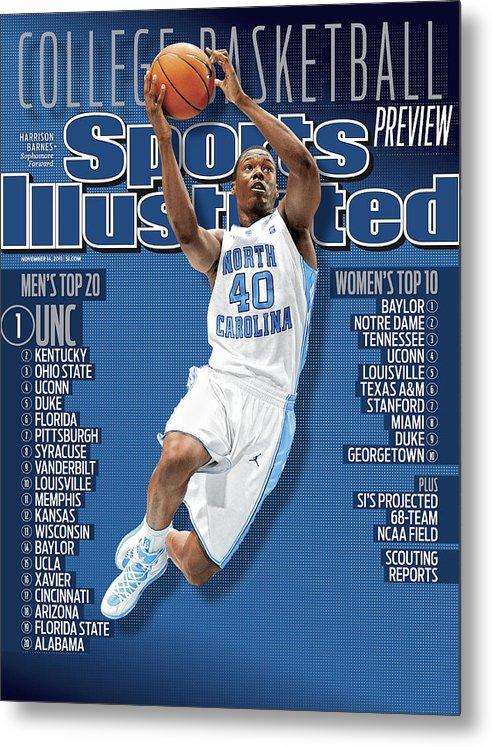 Magazine Cover Metal Print featuring the photograph University Of North Carolina Harrison Barnes, 2011-12 Sports Illustrated Cover by Sports Illustrated