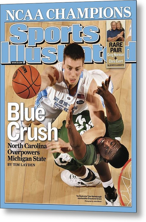 Michigan State University Metal Print featuring the photograph University Of North Carolina Tyler Hansbrough, 2009 Ncaa Sports Illustrated Cover by Sports Illustrated