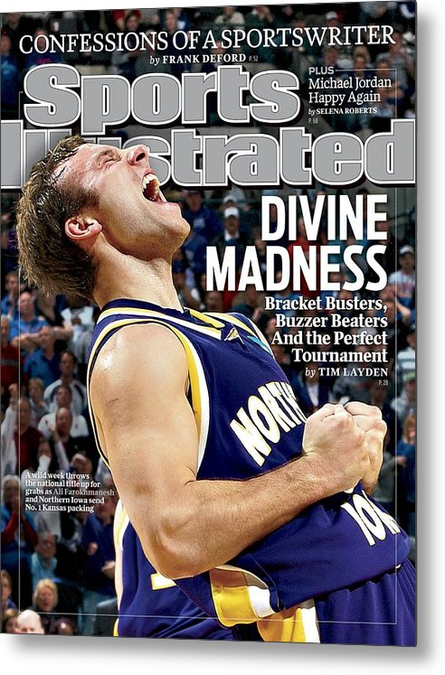 Magazine Cover Metal Print featuring the photograph University Of Northern Iowa Ali Farokhmanesh, 2010 Ncaa Sports Illustrated Cover by Sports Illustrated