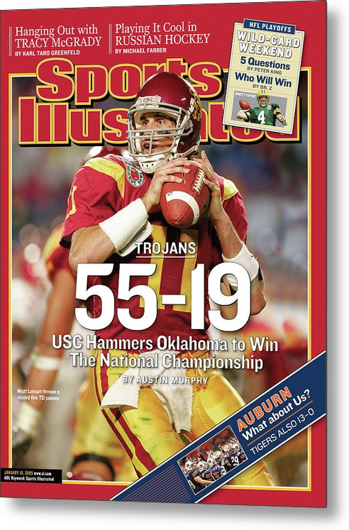 Miami Gardens Metal Print featuring the photograph University Of Southern California 2004 Bcs National Sports Illustrated Cover by Sports Illustrated