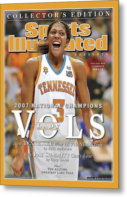 Sports Illustrated Metal Print featuring the photograph University Of Tennessee Candace Parker, 2007 Ncaa National Sports Illustrated Cover by Sports Illustrated