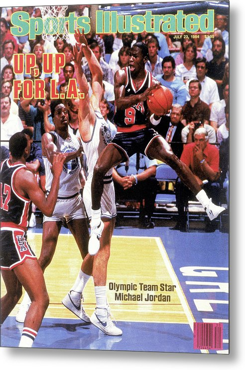 Magazine Cover Metal Print featuring the photograph Up, Up For La 1984 Los Angeles Olympic Games Preview Issue Sports Illustrated Cover by Sports Illustrated