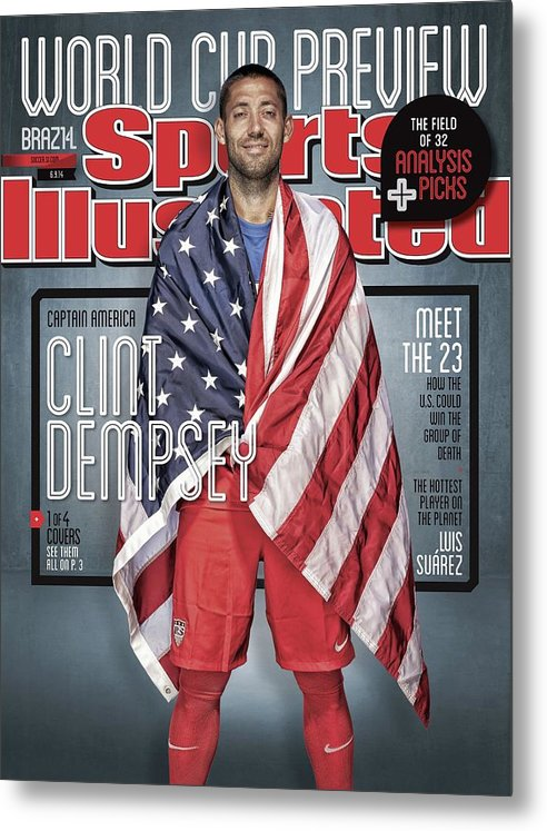 Magazine Cover Metal Print featuring the photograph Us Mens National Team, 2014 Fifa World Cup Preview Issue Sports Illustrated Cover by Sports Illustrated