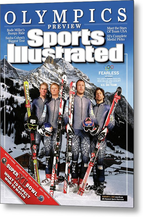 Daron Rahlves Metal Print featuring the photograph Usa Alpine Ski Team, 2006 Turin Olympic Games Preview Sports Illustrated Cover by Sports Illustrated