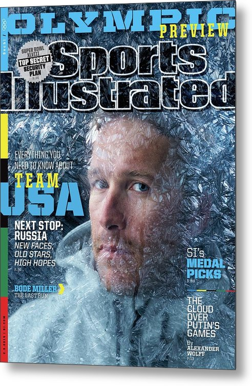 Media Day Metal Print featuring the photograph Usa Bode Miller, 2014 Sochi Olympic Games Preview Issue Sports Illustrated Cover by Sports Illustrated