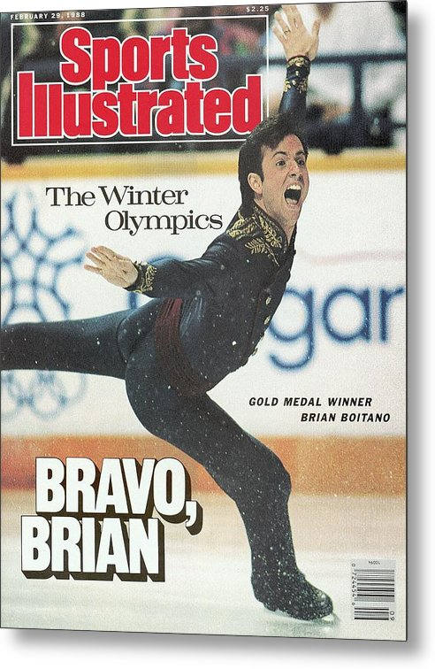 Event Metal Print featuring the photograph Usa Brian Boitano, 1988 Winter Olympics Sports Illustrated Cover by Sports Illustrated