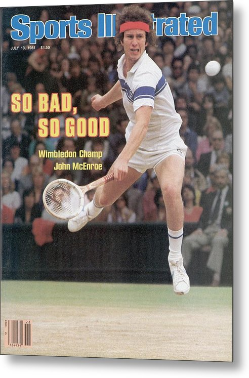 1980-1989 Metal Print featuring the photograph Usa John Mcenroe, 1981 Wimbledon Sports Illustrated Cover by Sports Illustrated