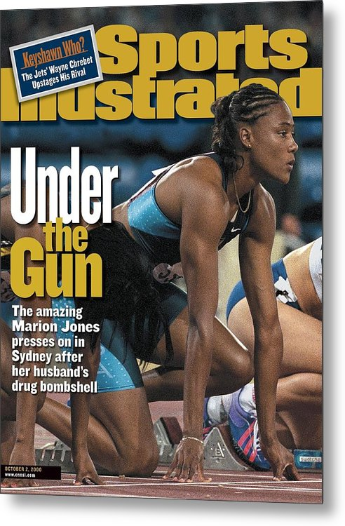 Magazine Cover Metal Print featuring the photograph Usa Marion Jones, 2000 Summer Olympics Sports Illustrated Cover by Sports Illustrated