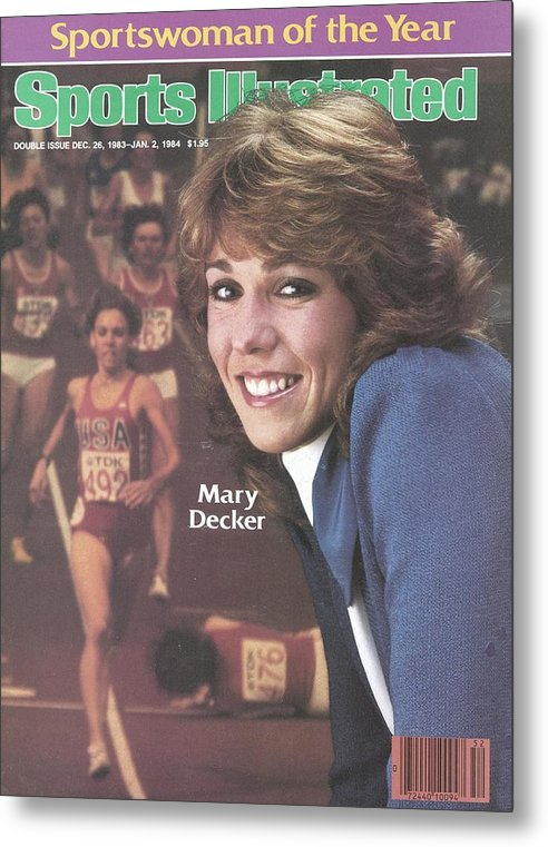 Magazine Cover Metal Print featuring the photograph Usa Mary Decker, 1983 Sportswoman Of The Year Sports Illustrated Cover by Sports Illustrated