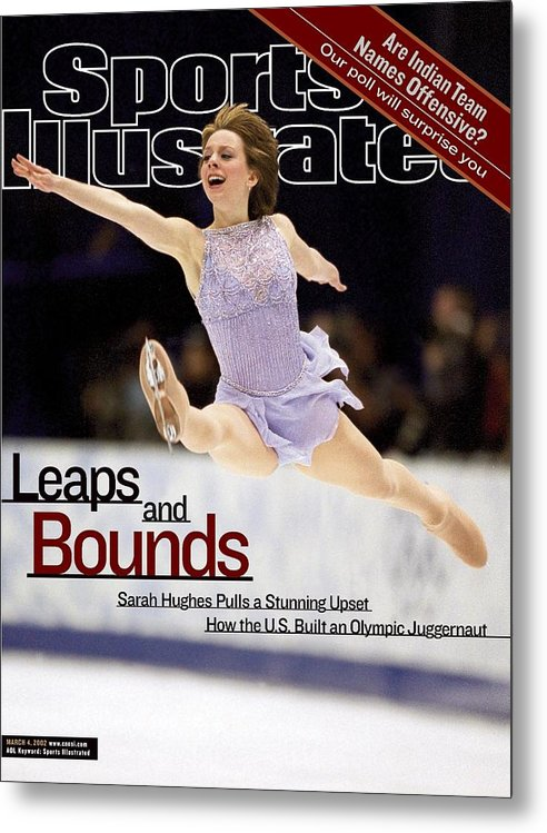 Event Metal Print featuring the photograph Usa Sarah Hughes, 2002 Winter Olympics Sports Illustrated Cover by Sports Illustrated