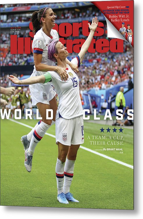 Magazine Cover Metal Print featuring the photograph Usa Vs Netherlands, 2019 Fifa Womens World Cup Final Sports Illustrated Cover by Sports Illustrated
