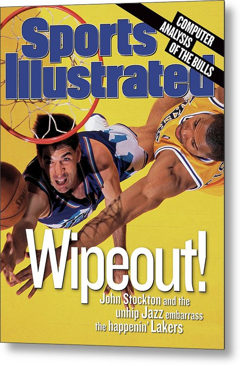 John Stockton Metal Print featuring the photograph Utah Jazz John Stockton, 1998 Nba Western Conference Finals Sports Illustrated Cover by Sports Illustrated