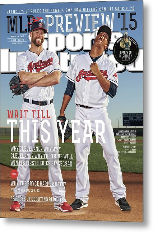 Magazine Cover Metal Print featuring the photograph Wait Till This Year 2015 Mlb Baseball Preview Issue Sports Illustrated Cover by Sports Illustrated
