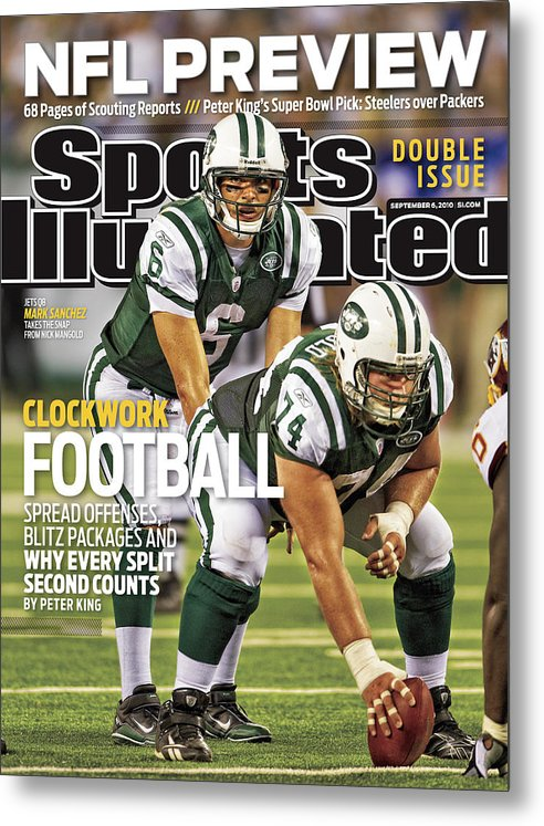 Magazine Cover Metal Print featuring the photograph Washington Redskins V New York Jets Sports Illustrated Cover by Sports Illustrated