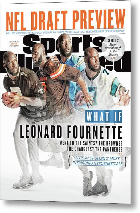 Magazine Cover Metal Print featuring the photograph What If Leonard Fournette Went To The Saints The Browns The Sports Illustrated Cover by Sports Illustrated